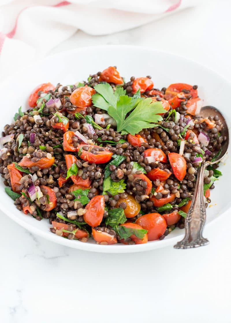 Roasted Tomato Lentil Salad via Nourished the Blog