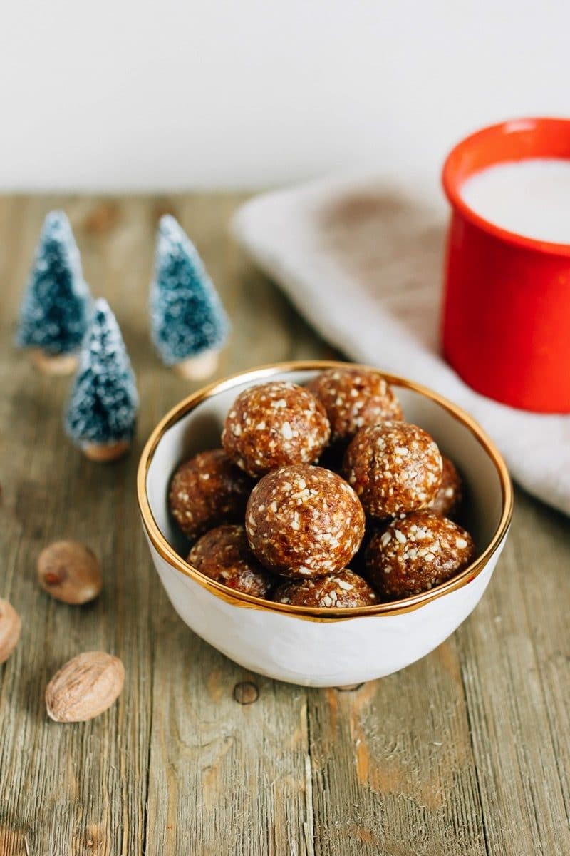 Gingerbread Larabar Balls via Eating Bird Food