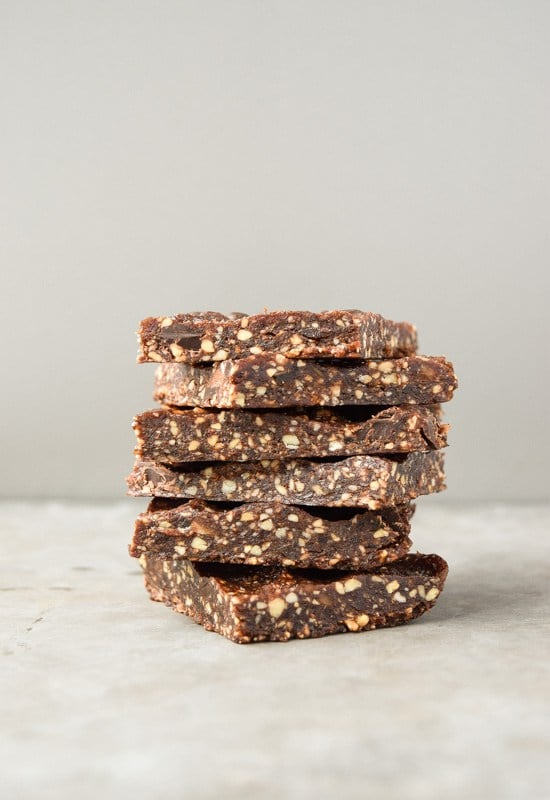 Mint Chocolate Chip Energy Bars via Tasty Thin