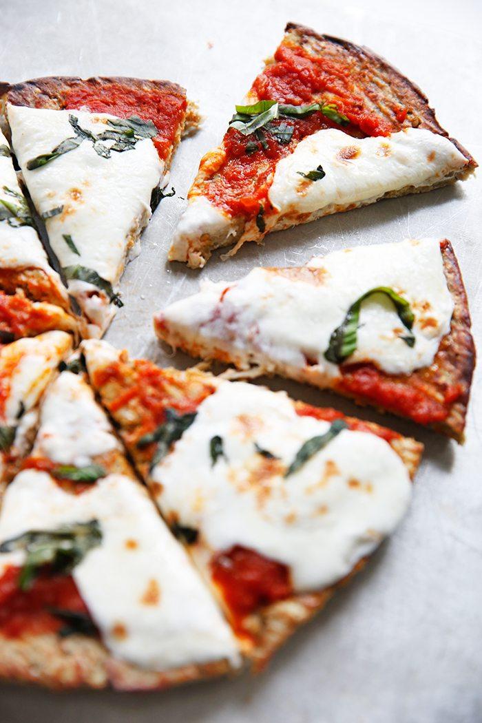 Paleo Eggplant Pizza Crust via Lexi's Clean Kitchen