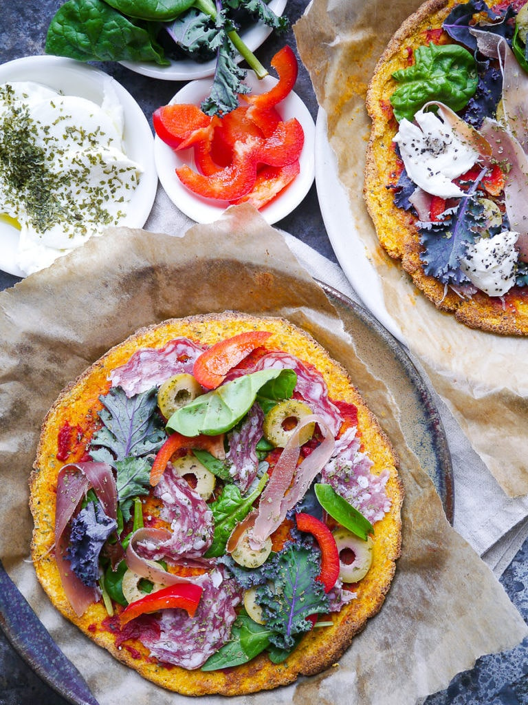 Pumpkin Pizza Crust via Nourish Everyday