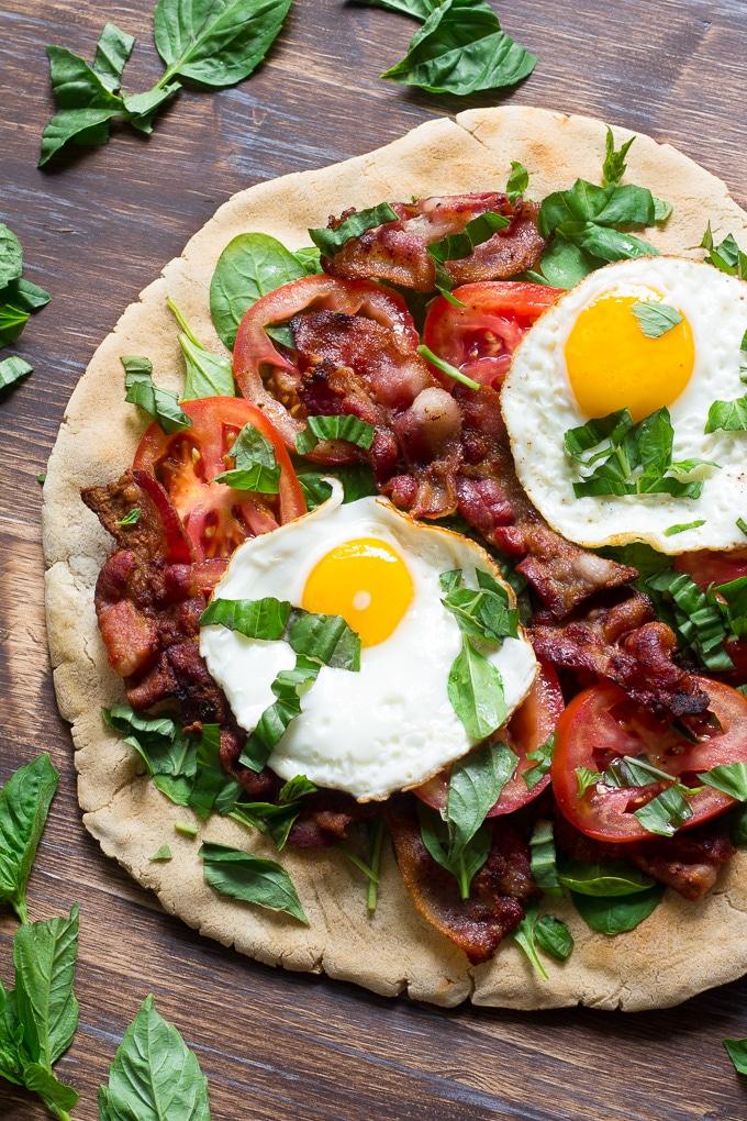 Easy Paleo Breakfast Pizza with Cassava Flour via Paleo Running Momma