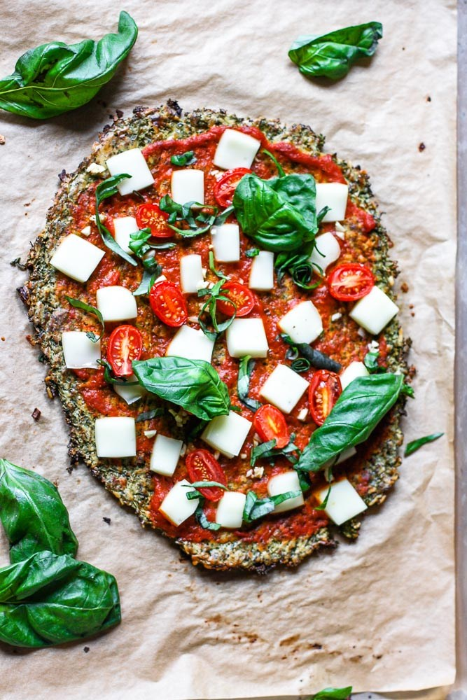 Broccoli Pizza Crust via There's a Cook in my Kitchen