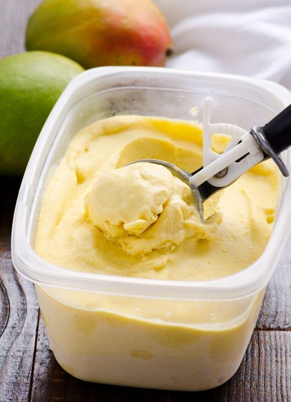 Coconut Mango Ice Cream via iFoodreal