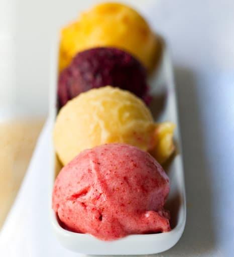 Cool Creamy Summer Sorbets via Happy Healthy Life